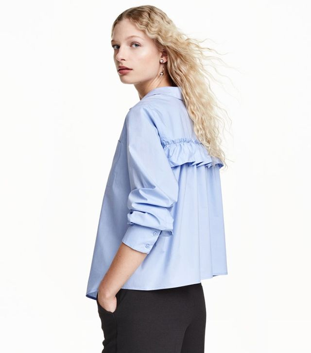 H&M Flared Ruffle Blouse