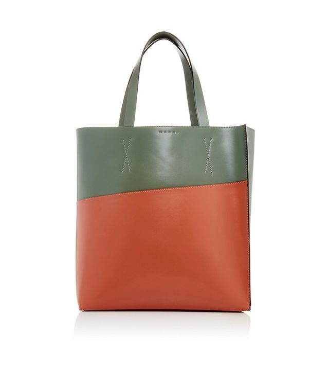 Marni Two Toned Calf Leather Classic Tote