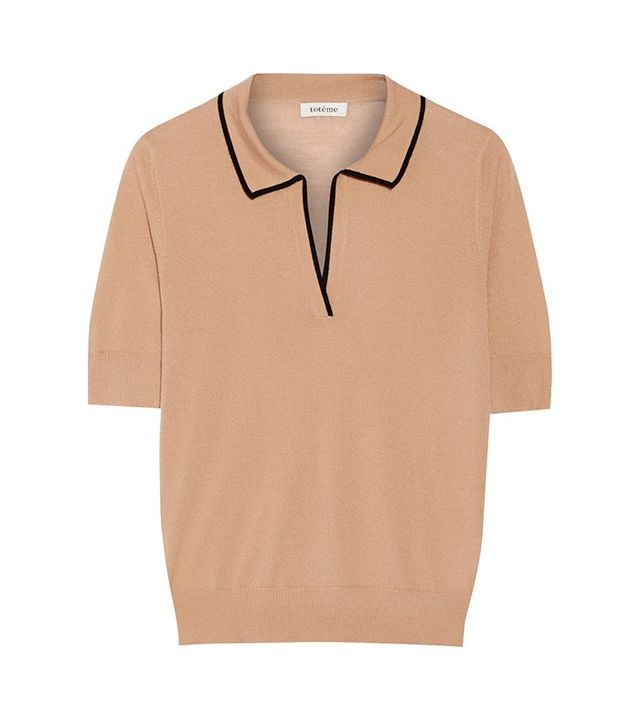 Totême Rhones Two-Tone Cashmere Top