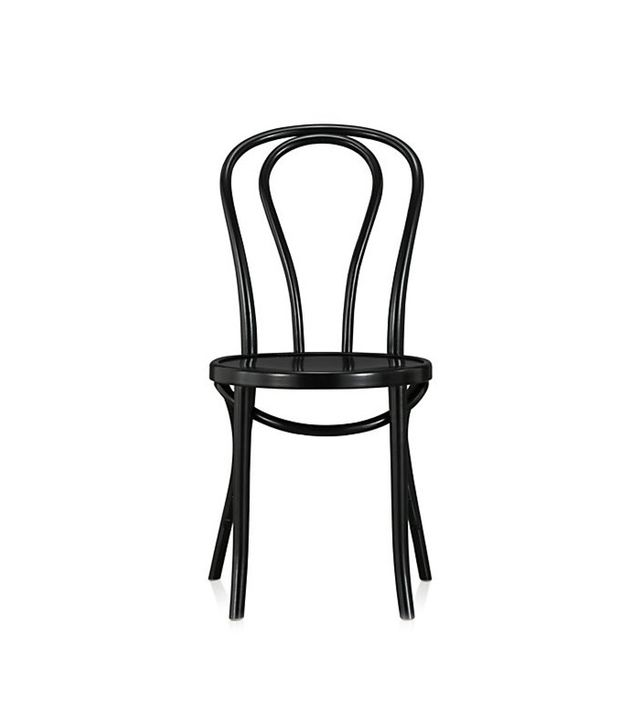 Crate and Barrel Vienna Black Wood Dining Chair