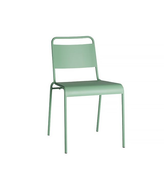 CB2 Lucinda Mint Stacking Chair