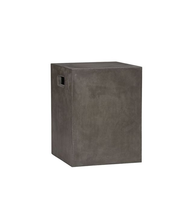 CB2 Cement Grey Side Table