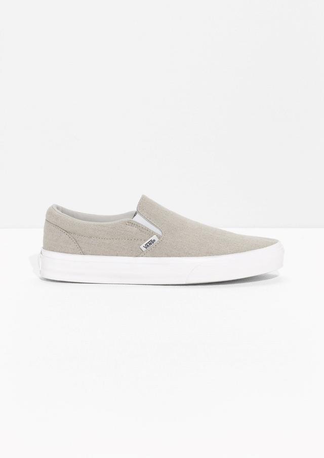 Vans & Other Stories Linen Classic Slip-On Sneakers