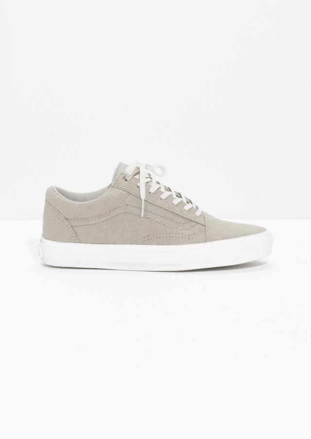 Vans & Other Stories Linen Old Skool Sneakers