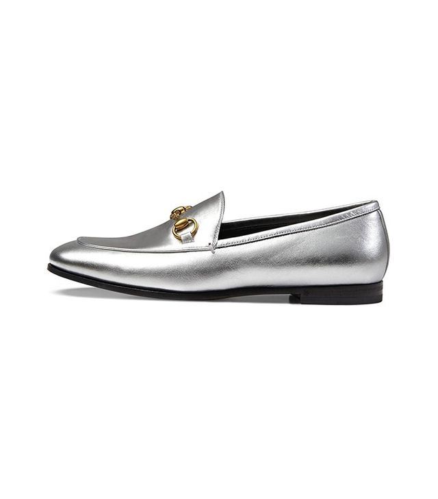 Gucci Jordaan Metallic Loafers