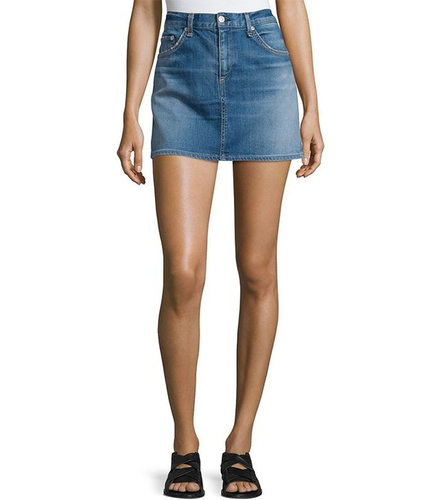Rag & Bone Denim Mini Skirt in Delancey