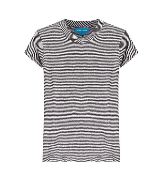 M.i.h Jeans Striped Cotton-Linen T-Shirt