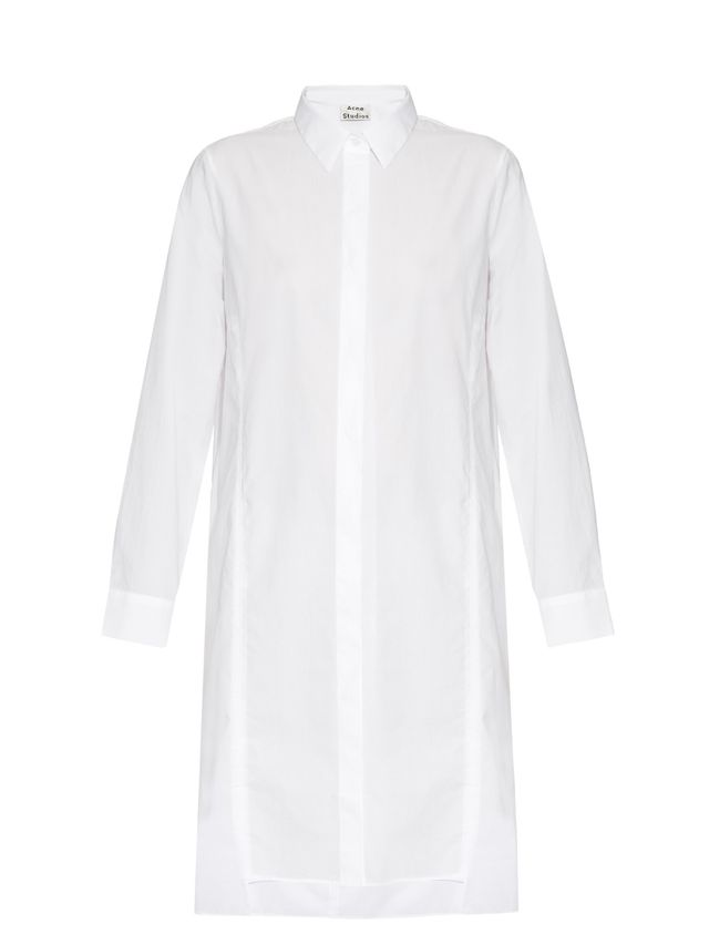 Acne Studios Rosamund Cotton-Piqué Shirtdress