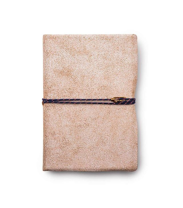 Miansai Carson City White Leather Journal, Brass Clasp