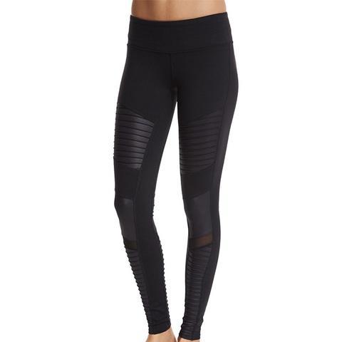 Yoga Moto Full-Length Sport Leggings