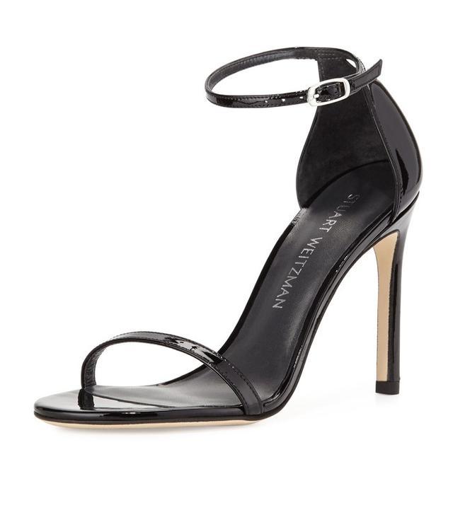 Stuart Weitzman Nudistsong Patent Ankle-Strap Sandal