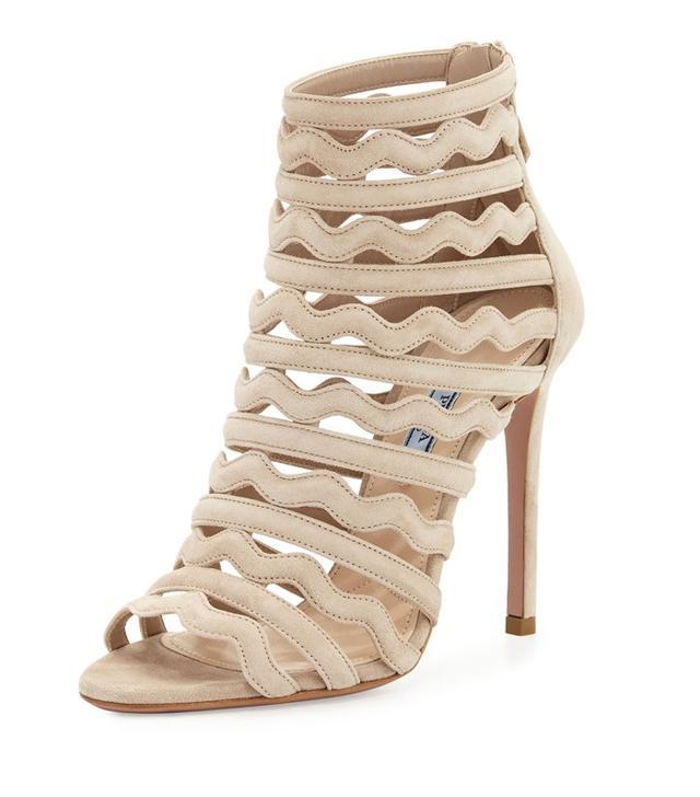 Prada Wavy-Strap Suede 110mm Sandals
