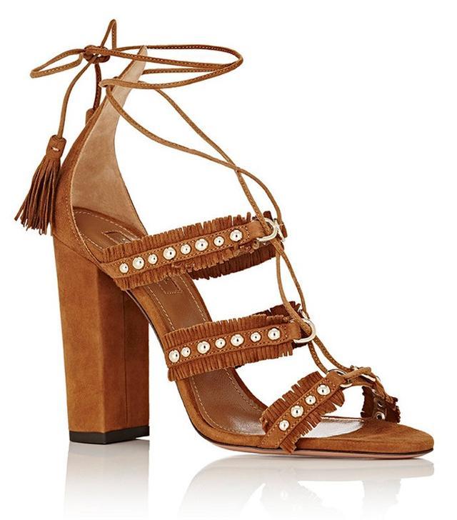 Aquazzura Tulum Lace-Up Sandals