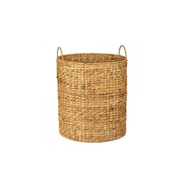 Howards Storage World Water Hyacinth Round Basket with Handle - 32cm x 40cm