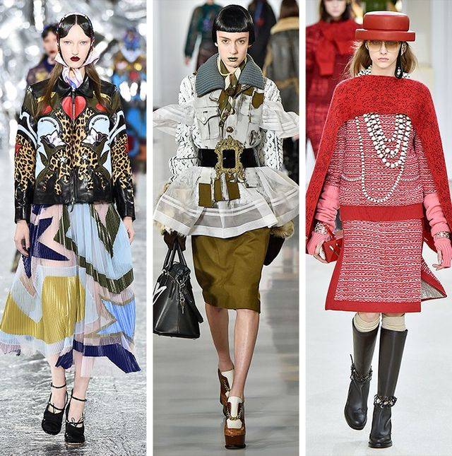 AW16 Fashion Trendson the catwalk at Mary Katrantzou, Maison Margiela and Chanel