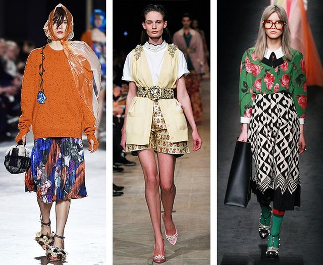 AW16 Fashion Trends on the catwalk at Christopher Kane, Miu Miu and Gucci