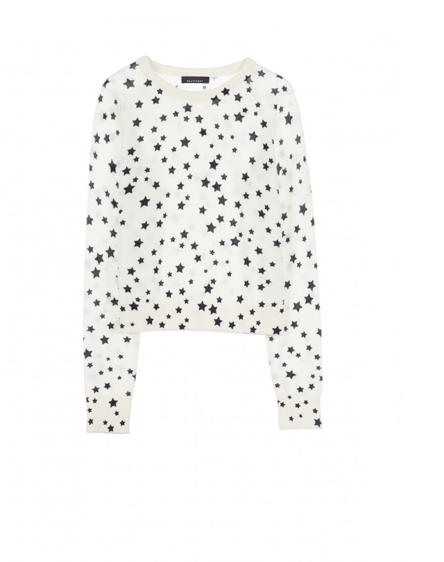 Kate Moss for Equipment Ryder Printed Cashmere Sweater