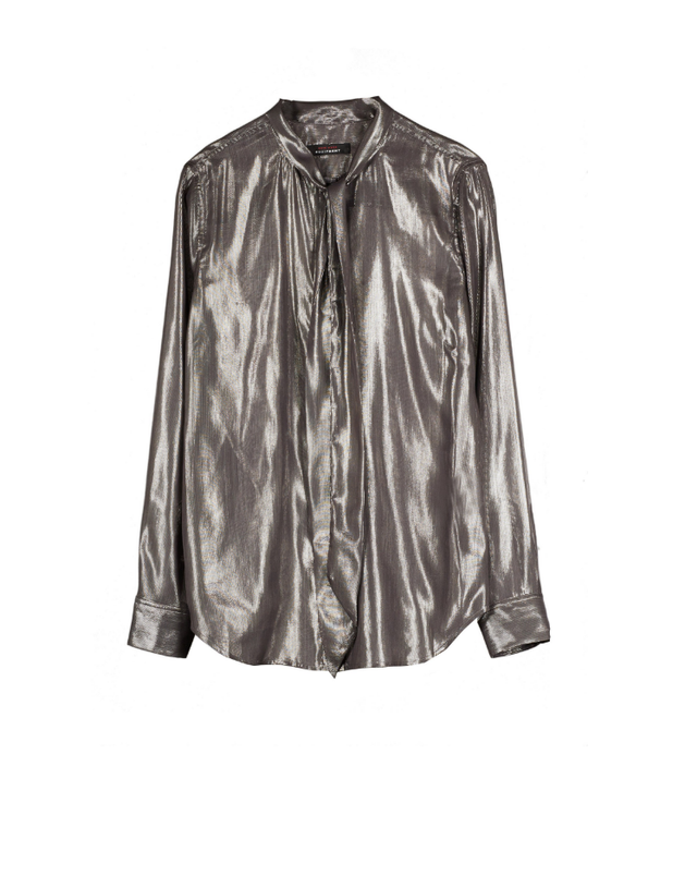 Kate Moss for Equipment Slim Signature Silk and Lurex-Blend Shirt
