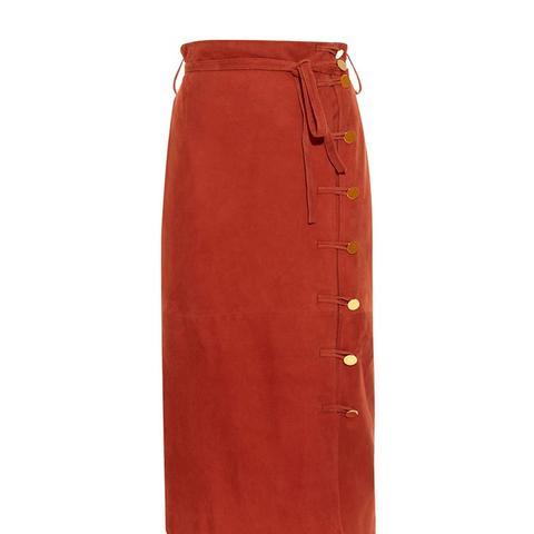 Hiroki Suede Midi Skirt