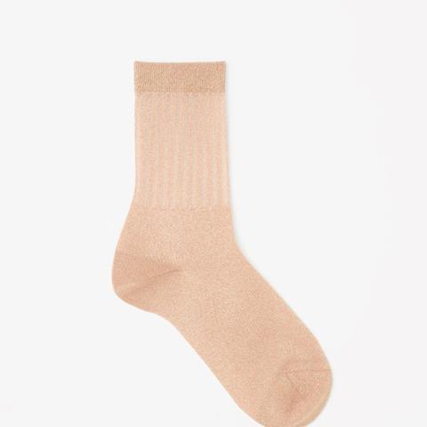 Sheet Detail Glitter Socks
