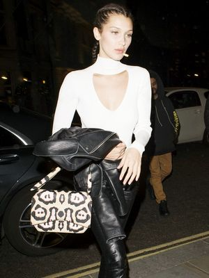 Bella Hadid Just Wore Sparkling Combat Boots to a Club in London