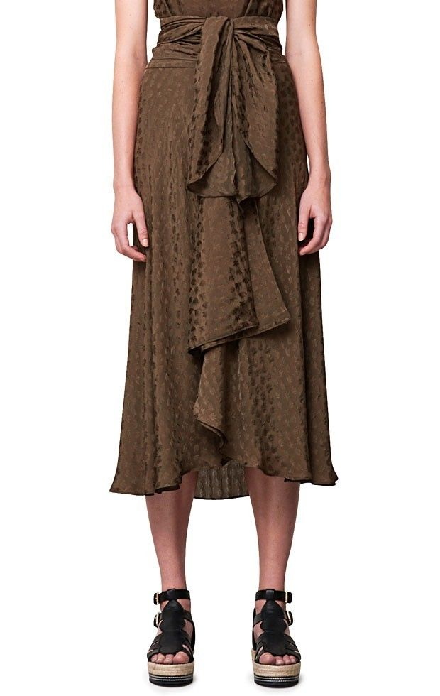 Rodebjer Odila Skirt in Mud Green