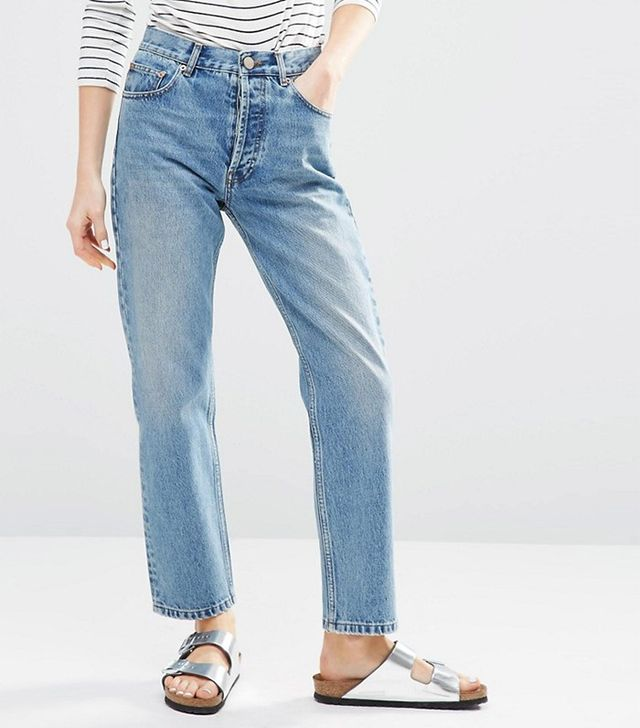 ASOS Authentic Straight Leg In Oxford Wash