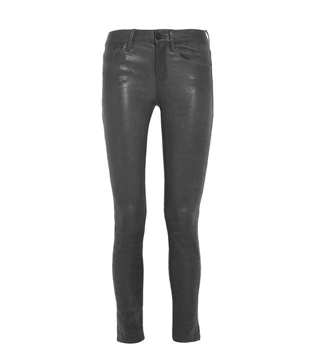 Frame Denim Le Skinny Stretch-Leather Pants