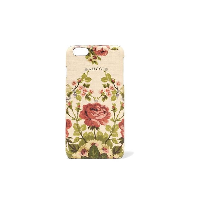 Gucci Adonis floral-print textured iPhone 6+ case