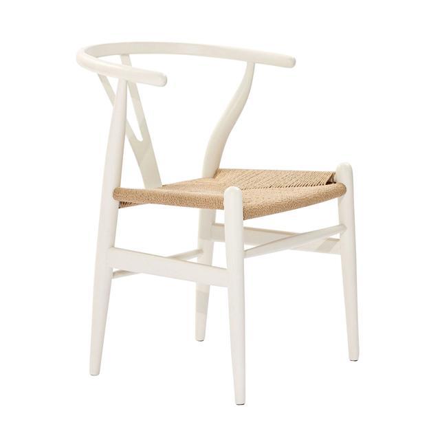 Matt Blatt Replica Hans Wegner Wishbone Chair in White