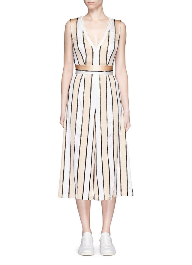 Helen Lee Pleat Silk Jumpsuit