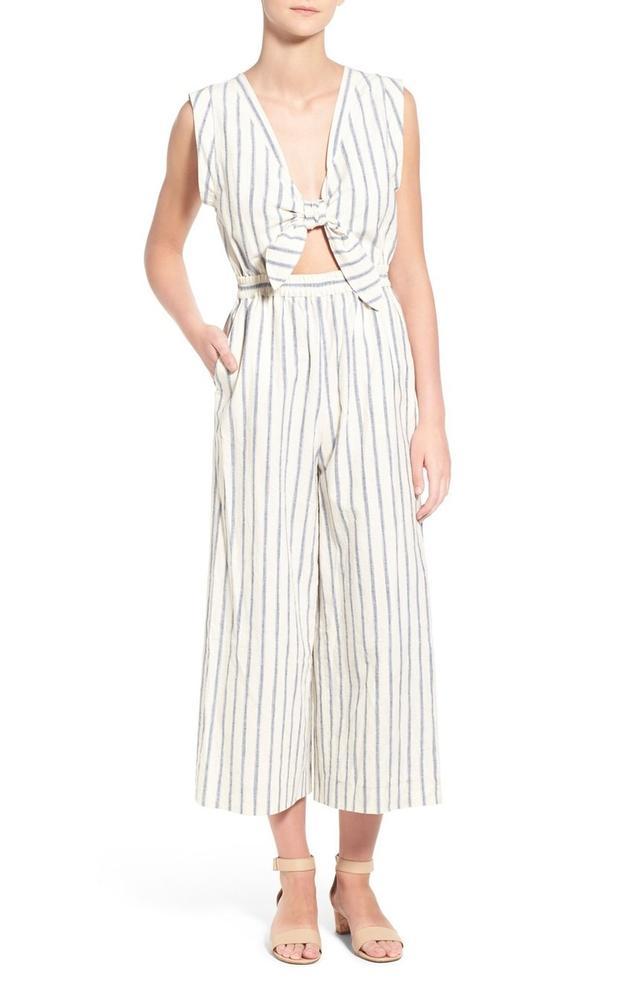 Madewell Ikat Stripe Jumpsuit