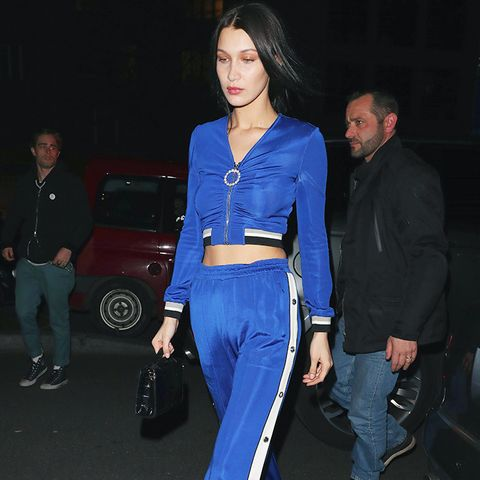 Crop top outfits: Bella Hadid