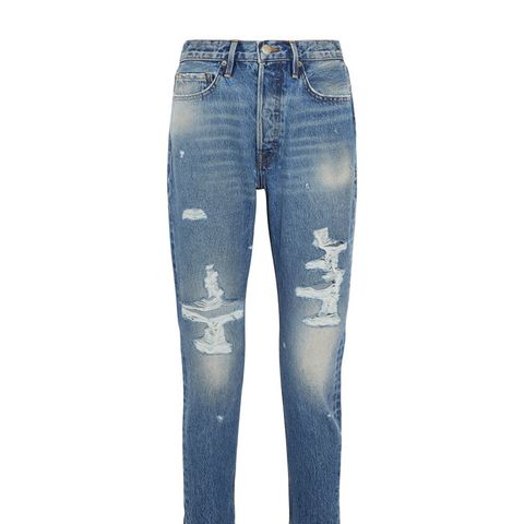 Rigid Re-Release Le Original Skinny Distressed High-Rise Jeans