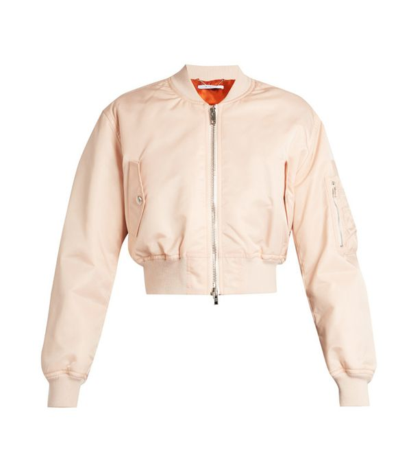 Crop top outfits: Givenchy Cropped Twill Bomber Jacket
