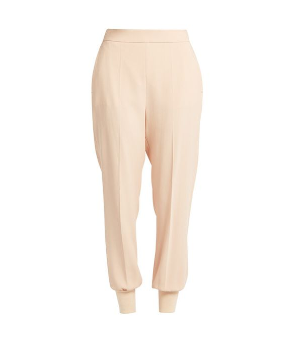 Crop top outfits: Stella McCartney Julia Crepe Trousers
