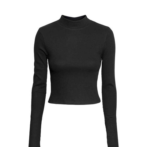 Short Polo-Neck Top