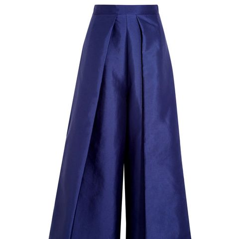 Aria Cropped Charmeuse Wide-Leg Pants