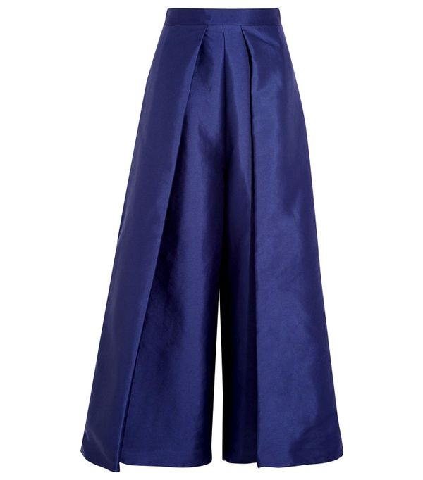 Crop top outfits: Solace London Aria Cropped Charmeuse Wide-Leg Pants