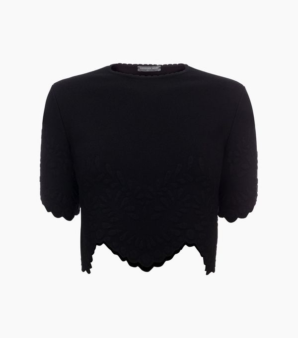 Crop top outfits: Alexander McQueen Knitted Crop Top