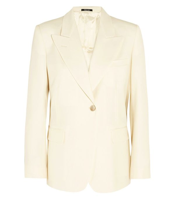 Crop top outfits: Maison Margiela Wool-Blend Blazer