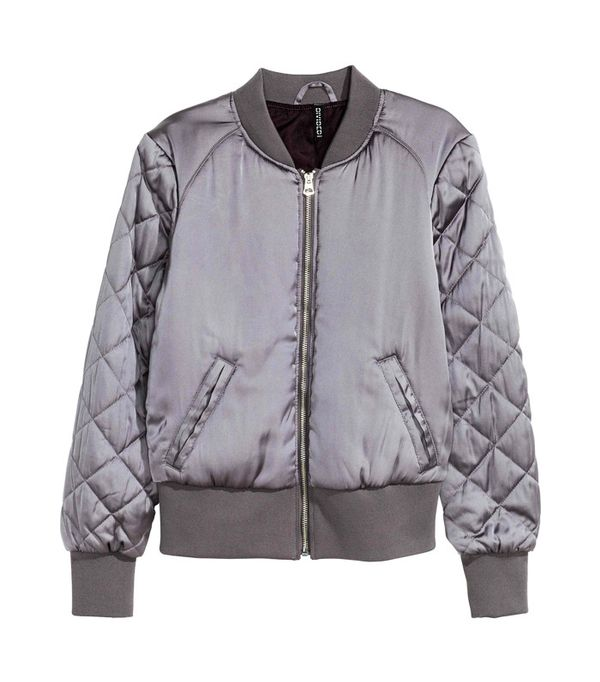 Crop top outfits: H&M Bomber Jacket