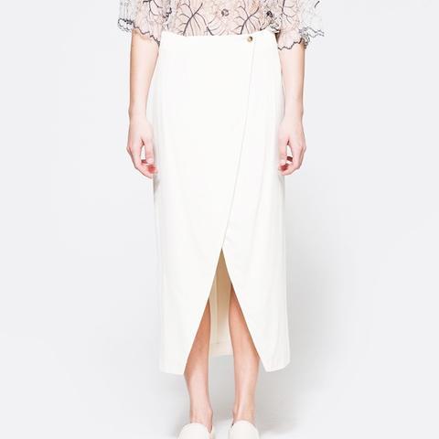White Tailor Skirt