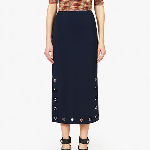 Grommet Pencil Skirt
