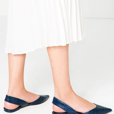 Embossed Slingback Shoes