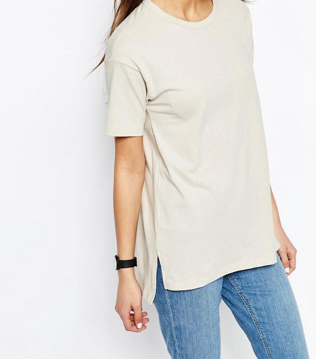 ASOS Linen Look Oversized T-Shirt