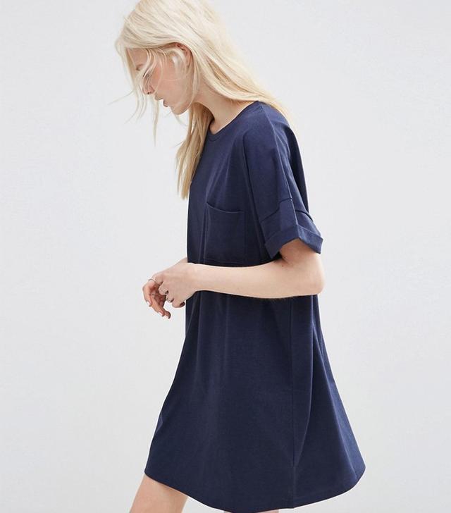 ASOS Casual Oversize T-Shirt Dress With Pocket