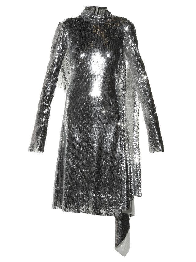 Vetements High-Neck Sequin Dress