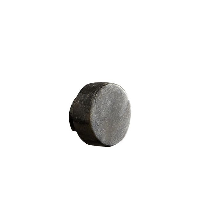 CB2 Marble Grey Disk Drawer Pull
