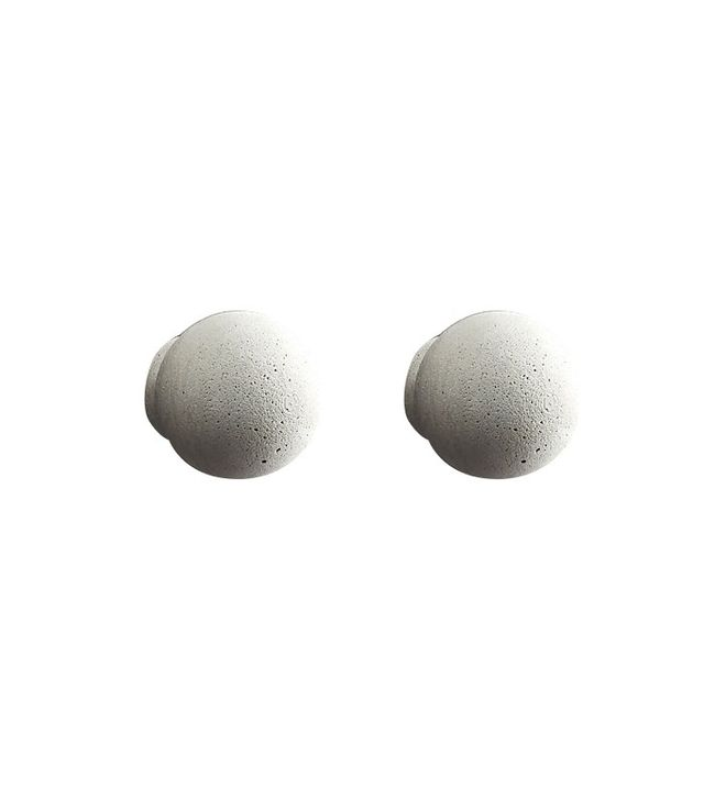 CB2 Kast Cement Globe Drawer Pulls